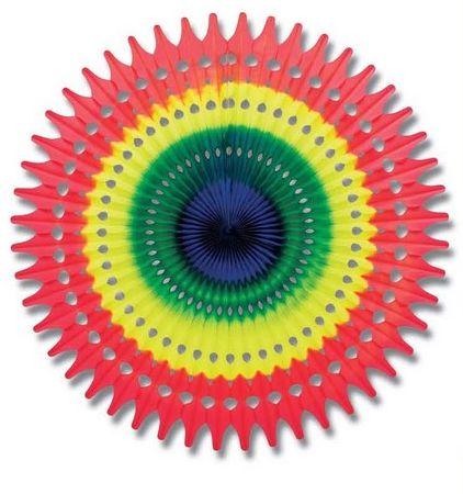 fête - rosace multicolore en papier