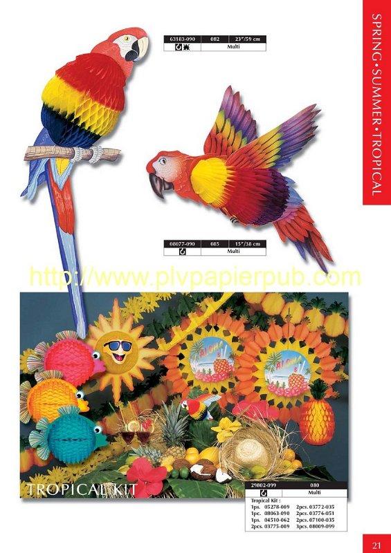Décoration papier thème Tropiques