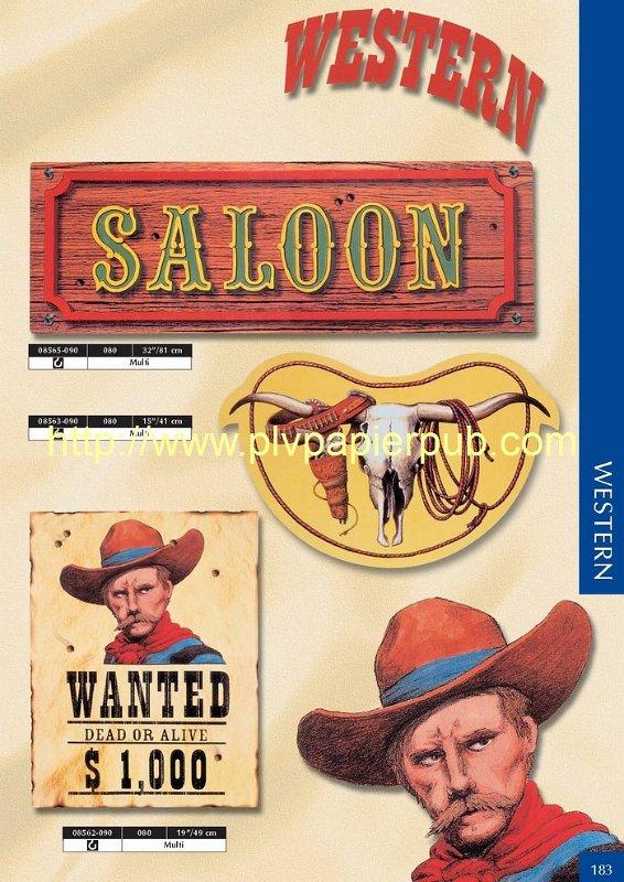 Décoration papier thème Western