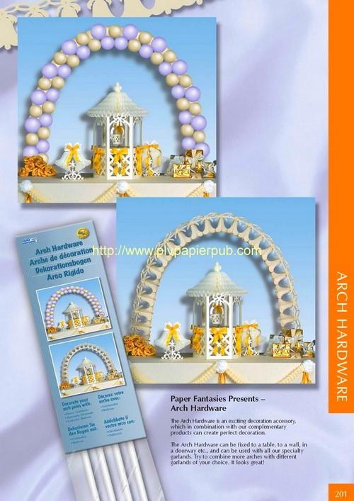 arche - kits pour mariage avec décoration d'artche en ballons ou en figurines papier et motif central en forme de petit pavillon