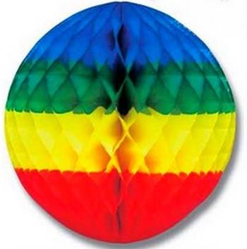 tête de gondole - boule de papier quatre couleurs gaufrée
