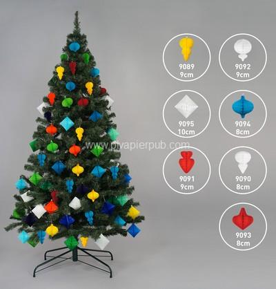 publicitaire - sapin de Noël avec décoration en papier