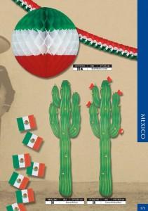 folklore - cactus, boules et drapeaux aux couleurs du Mexique