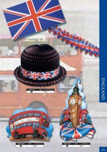 drapeaux : ensemble Royaume-Uni avec drapeau, chapeau melon, bus à impériale, Tour de Londre et guirlande