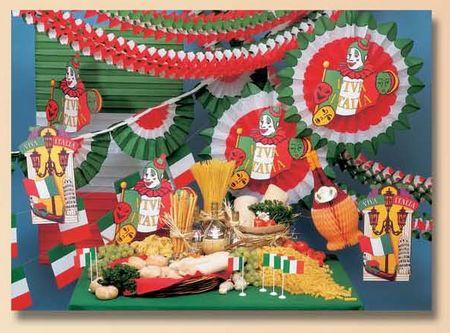 folklore - vue de l'ensemble des éléments du folklore italien