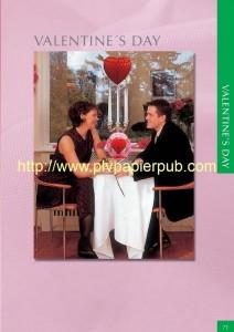 guirlande - set de décoration papier avec pour thème la saint Valentin comprenant guirlande, coeurs, boules, motifs