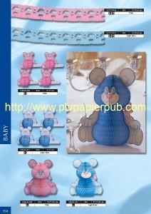 bébé - décoration comprenant oursons en papier et guirlande