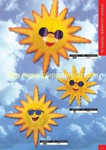 été - rosaces en papier crépon en forme de soleils d'été