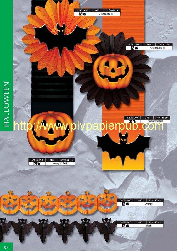 Décoration papier thème Halloween