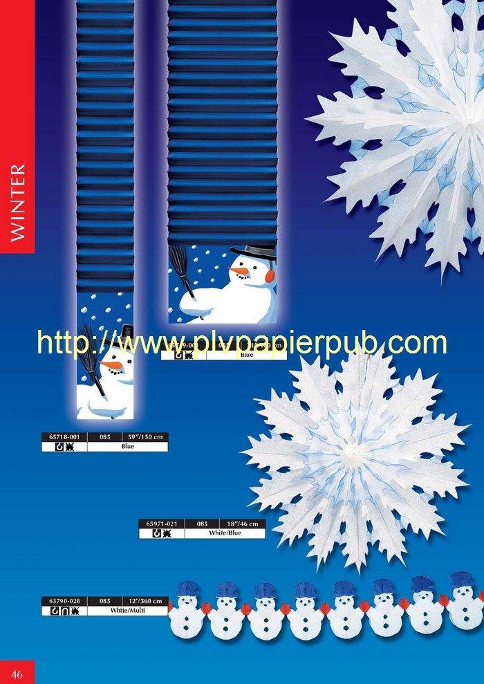 Décoration papier thème hiver