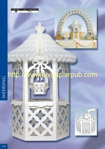 décoration de mariage - kiosque pour les mariés et arche de papier crépon
