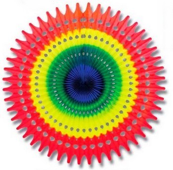 tête de gondole - grand soleil multicolore en volume
